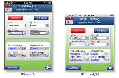 iPhone Screen Rendering for Enterprise Mobile Apps 1