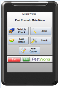 PestWorxs Mobile Device