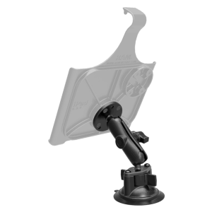 RAM Twist Lock Suction Mount with Round Plate AMPS Hole Pattern